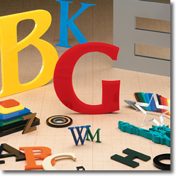 selection of gemini sign letters cut plastic acrylic sign letters