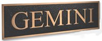 Gemini Sign Letters - Cast Metal Plaques