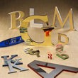 Laminated Metal Sign Letters