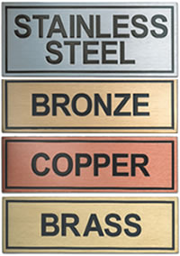 etched metal plaques