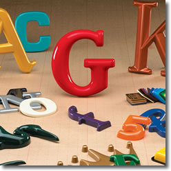 Selection of Gemini Formed Plastic Sign Letters and Logos
